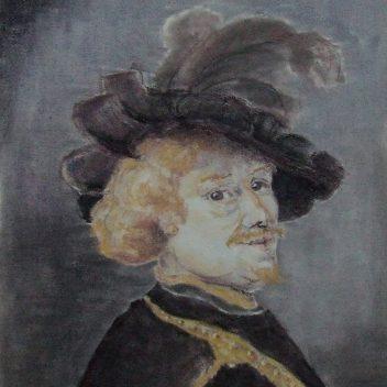 Man met hoed en veer 2002