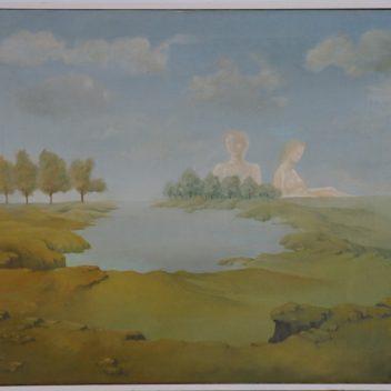 Landschap met figuren 1974