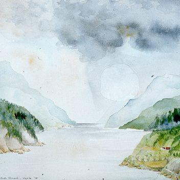 Lusterfjord II, bij Skjolden 1978