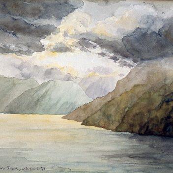 Lusterfjord III, in regen 1978