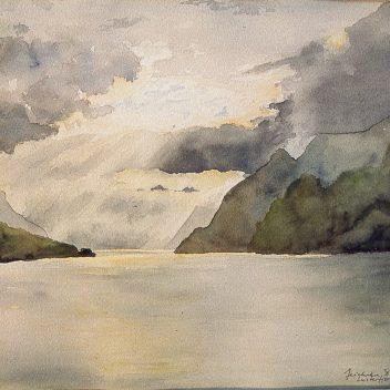 Lusterfjord IV bij regen 1978