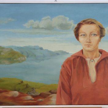 Oma in Noors landschap 1974